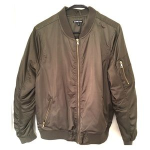 Charlotte Russe Army Green Bomber Jacket